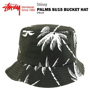 ステューシー パームス SU15 バケットハット ブラック (STUSSY PALMS SU15 BUCKET HAT 132667) 【あす楽対応】【楽ギフ_包装】【あす楽_土曜営業】