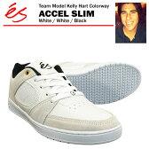 エス アクセル スリム ホワイト/ホワイト/ブラック [ケリー・ハートカラー] スケート スケーター スニーカー (es ACCEL SLIM Kelly Hart Coloway)