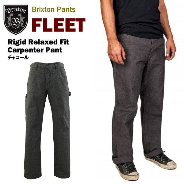 メンズファッション, ズボン・パンツ  (Brixton FLEET Rigid Relaxed Fit Carpenter Pant )