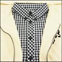 [在庫処分] ニーウ ×チェックシャツ レイヤードジップパーカー アイボリー (NIR) 3