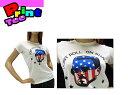 レディース USプリント Tシャツ 全4種 オフホワイトジャンクフード風デザイン(JUNK FOOD) 【あす楽対応】【楽ギフ_包装】【あす楽_土曜営業】