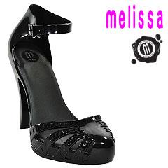 メリッサ エレクトリック ラバー ハイヒール パンプス ブラック (Melissa Electric レディース ...