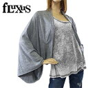 楽天[正規品] フルクサス フラクシング オーバーサイズド シュラグ ラップカーディガン ヘザーグレー size S (fluxus/fLuXing OVERSIZED SHRUG)