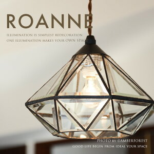 【送料無料】 ペンダントライト ■ROANNE | LT-9683■ 現代的なデザインに仕上げた多面体ガラスが美しい 宝石のような天井照明 【INTERFORM インターフォルム】
