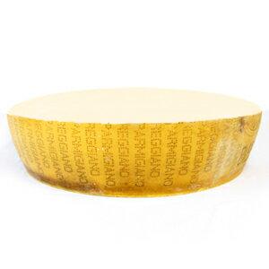 イタリア産 24ケ月熟成 DOPパルミジャーノ・レッジャーノ 1/2鉢型カット(水平にカット)約19Kg(不定貫3500円[税抜]/kgで再計算)
