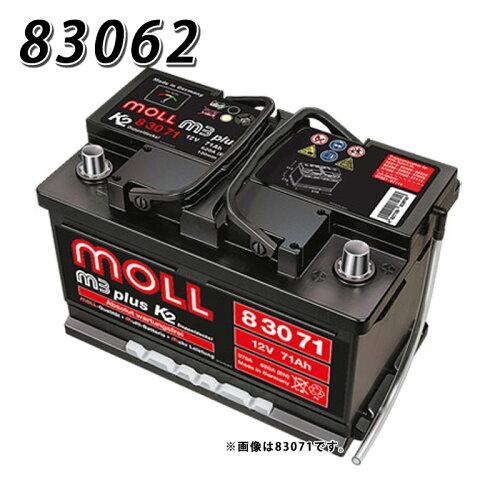送料無料 830-62 モル MOLL 83062 自動車 用 バッテリー 83058 2年保証 車