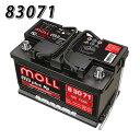 送料無料 830-71 モル MOLL 83071 自動車 用 バッテリー 2年保証 車 - 17,697 円
