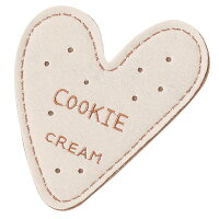 ハート型クッキーコースター:クリーム