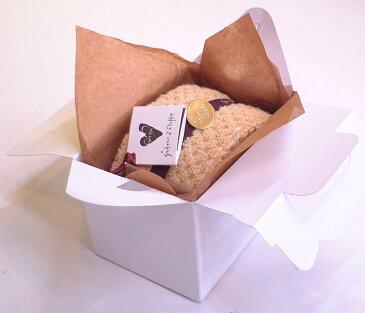 手持ち付きケーキ箱に入ったハーフロールタオルケーキ:バター(ホワイト)【送料無料一部の地域除く】誕生日バレンタインホワイトデー母父の日敬老の日等御祝ギフトや各種イベント粗品景品販促品にも