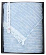 山本寛斎の和泉紋織ガーゼストール:ブルー(化粧箱はありません)