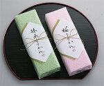 タオルお菓子:桜ようかん:右が桜ようかん