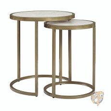 サイドテーブルDorelLivingアクセントサイドテーブル大小2点セットマーブルアメリカ輸入家具アメリカ輸入雑貨