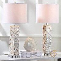 エレガントウロコ調グラステーブルランプ2setアメリカ輸入照明アメリカ家具