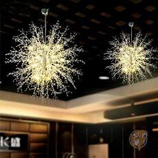 シャンデリア優雅おしゃれ花火風LEDシャンデリアステンレス80cm径アメリカ輸入照明アメリカ家具