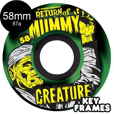 【OJ WHEELS オージェイウィール】58mm CREATURE RETURN OF THE MUMMY KEYFRAME 87A WHEELSソフトウィール クルーザー クリーチャー スケートボード スケボー sk8 skateboard【1710】