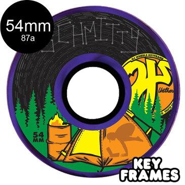 【OJ WHEELS オージェイウィール】54mm CAMP SCHMITTY KEYFRAME 87A WHEELSソフトウィール クルーザー スケートボード スケボー sk8 skateboard【1807】