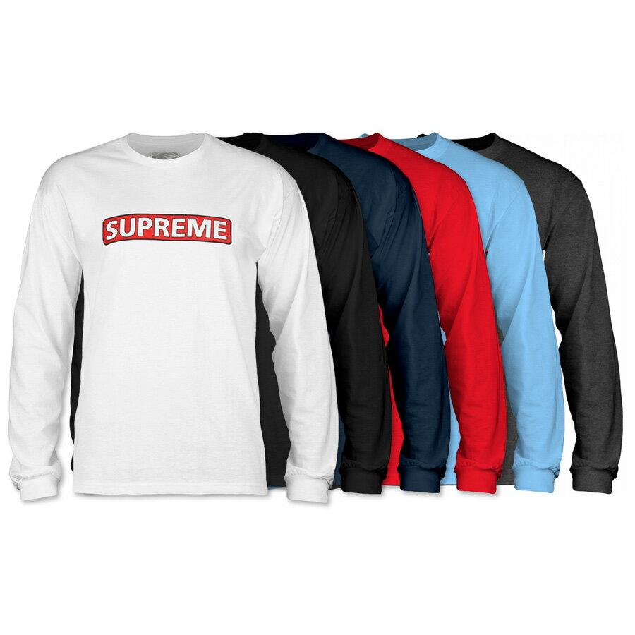 トップス, Tシャツ・カットソー POWELL PERALTA SUPREME LS SHIRTT T sk8 skateboard20SS(CP)