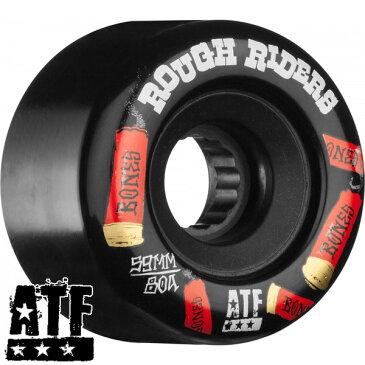 【BONES WHEELS ボーンズ ウィール】ROUGH RIDER SHOTGUN 59MM BLACK WHEEL(4pack)ソフトウィール ラフ・ライダー ブラック クルージング クルーザー スケートボード スケボー sk8 skateboard【1805】
