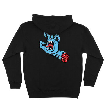 【SANTA CRUZ サンタクルーズ】PHILLIPS HAND L/S PULLOVER HOODED MENS BLACKプルオーバーパーカー ブラック スクリーミングハンド ジム・フィリップス スケートボード スケボー sk8 skateboard【17FW】