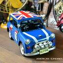 ブリキのおもちゃ 置物 アメリカン雑貨 ヴィンテージ オブジェ インテリア小物 レトロ ミニクーパー風 ブルー ミニカー レトロインテリア 車