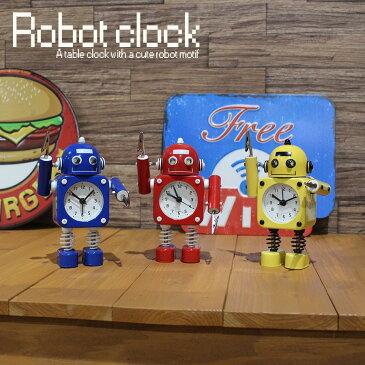 目覚まし時計 おもしろ 置き時計 アナログ おしゃれ 子供 卓上 時計 雑貨 男の子 ロボット キャラクター おもちゃ リビング 寝室 子ども部屋 スタイリッシュ 小さい 小さめ かわいい 可愛い 女の子