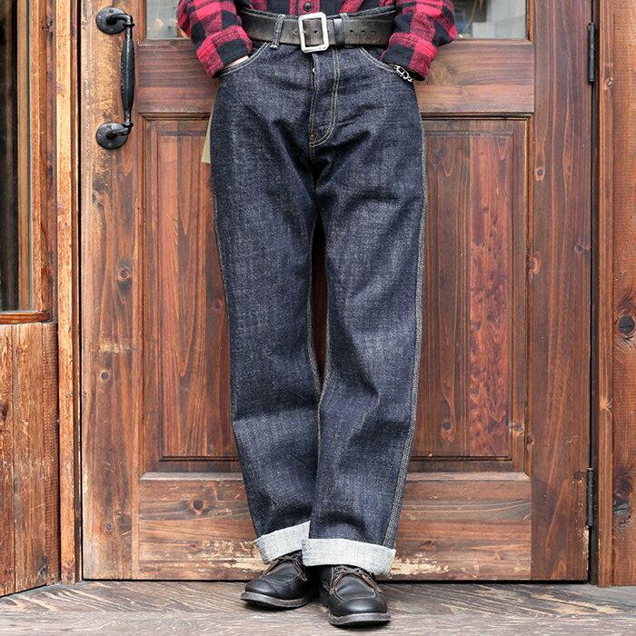 メンズファッション, ズボン・パンツ TROPHY CLOTHING 1604 Waist Overall Dirt Denim MENS 14.5oz