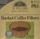 【訳あり】IF YOU CARE Basket Coffee Filters 100 filters / イフユーケア コーヒーフィルター 8-12杯用 100枚入【多少の箱つぶれ】