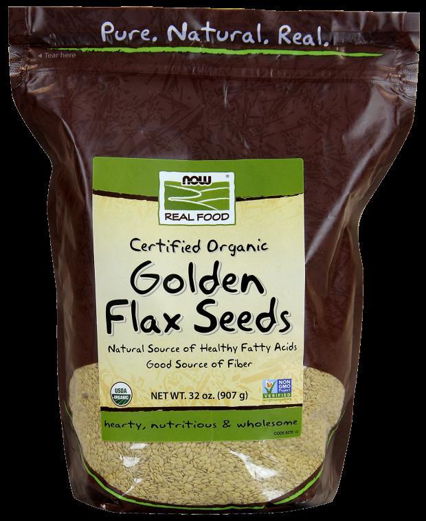 NOW Golden Flax Seeds ORGANIC 2 lbs 907g #6276 ナウ ゴールデンフラックスシード オーガニック 2ポンド