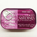 Trader Joe's トレーダージョーズ/ Lightly Smoked Sardines in Olive Oil 4.25oz (120g)