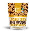 【訳あり】Organic Made in Nature, Coconut chips Supersnack (ジンジャー マサラ チャイ味) 3oz【賞味期限 2018年2月23日まで】