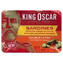 【訳あり/在庫処分】King Oscar Sardines in Extra Virgin Oil / キングオスカー エキストラバージンオリーブオイルサーディン ホットパラぺーニョペッパー 10缶セット 2層詰め106g×10缶【賞味期限 2023年】