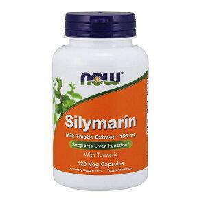 NOW Silymarin Milk Thistle Extract 150 mg 120 VCap #4737 ナウ シリマリン 150mg(マリアアザミエキス&ウコン) 120粒