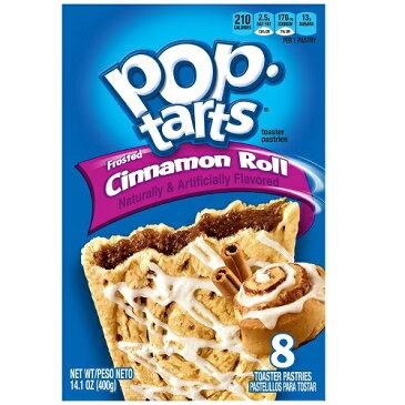 Kellogg's POP-tarts Frosted Cinnamon Roll 8ct/14.1oz/400g /ケロッグ ポップタルト シナモンロール 50g×8枚入り
