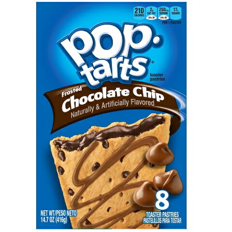Kellogg's POP-tarts Frosted Chocolate Chip 8ct/14.1oz/400g /ケロッグ ポップタルト チョコレートチップ 50g×8枚入り