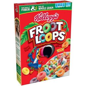 ケロッグの人気商品カラフルでフルーティーなフルーツループKellogg's Froot Loops 615g ×1箱...