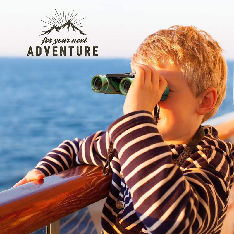 アルミニウム双眼鏡本とコンパス付きATHENAFUTURES子供用双眼鏡アメリカーナがお届け!