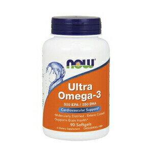 NOW Ultra Omega 3 Fish Oil, 90 Softgels #1661 ナウ ウルトラオメガ3(EPA&DHA)90ソフトカプセル