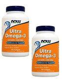 【お得な2本セット】NOW ULTRA OMEGA 3 FISH OIL 180 SGELS #1662 ナウ ウルトラオメガ3(EPA&DHA)180ソフトカプセル 送料無料!