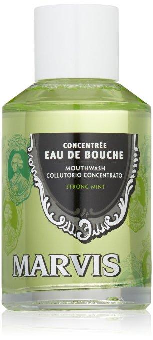 マービス ストロングミント マウスウォッシュ 120ml Marvis Strong Mint Mouthwash Concentrate, 4.1oz