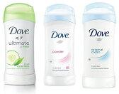 【お試し3本セット】Dove ダヴ デオドラント 74g デオドラントスティック 効果24時間持続! 白くならないタイプ