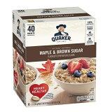 【お得パック】クエーカー インスタント オートミール メープル&ブラウンシュガー 43g×40袋入 / Quaker Instant Oatmeal Maple&Brown Sugar 40 packets