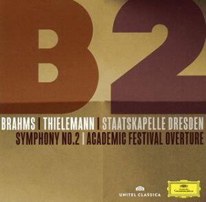 【メール便送料無料】ブラームス:交響曲第2番 / 大学祝典序曲 ティーレマン / シュターツカペレ・ドレスデン[CD]【K2017/1/25発売】