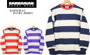 BARBARIAN バーバリアン HEAVYWEIGHT CREWNECK RUGBY SHIRTS ヘヴィーウェイト クルーネックラグビーシャツ UABCC-LS4 3color (NAVY×SAND・RED×BEIGE・PURPLE×BEIGE)