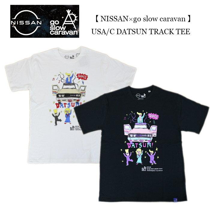 トップス, Tシャツ・カットソー NISSAN go slow caravan USAC DATSUN TRACK TEE 39 351943