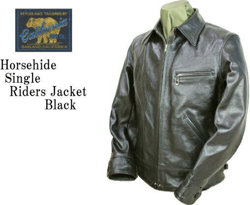 RAINBOW COUNTRY レインボーカントリー Horsehide Single Riders Jacket RCL-10013H/ Jacket ホースハイド シングルライダース ジャケット RCL-10013H BLACK