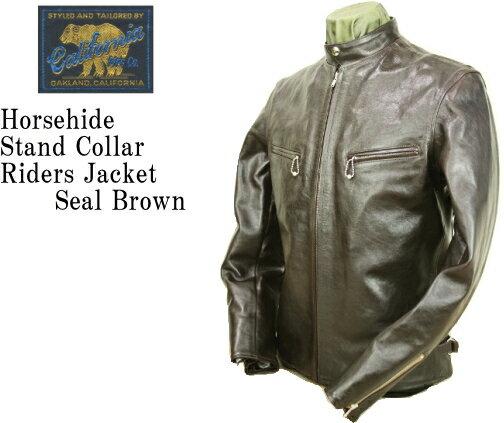 メンズファッション, コート・ジャケット RAINBOW COUNTRY Horsehide Stand Collar Riders Jacket RCL-10029H SEAL BROWN