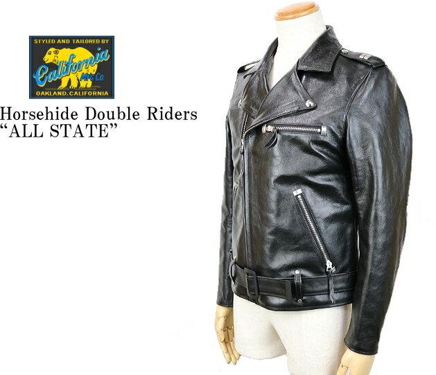 メンズファッション, コート・ジャケット RAINBOW COUNTRY Horsehide Double Riders JacketALL STATE RCL-10064 BLACK