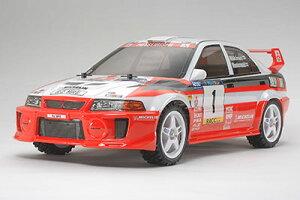 ラジコンキット 1/10 電動RCカー 三菱ランサー エボリューションV WRC(DF-03Raシャーシ)[タミヤ...
