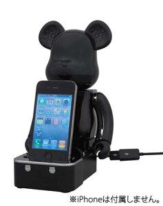 iPod/iPhone用 BE@RBRICK(ベアブリック)スピーカーシステム ブラックVer.[メディコム・トイ]...