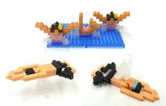 nanoblock(ナノブロック) × 大図まこと NBCB-001 水泳(シンクロナイズドスイミング&平泳ぎ)[...